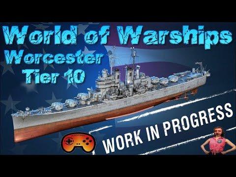 """""""USS Worcester"""" TX Preview/Gameplay in World of Warships auf Deutsch/German"""