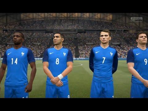 France vs Allemagne FIFA 17 Difficulté Légende Gameplay PC
