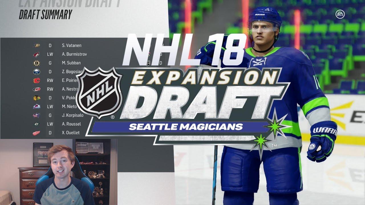NHL 18 EXPANSION MODE - SEATTLE TEAM CREATION   EXPANSION DRAFT ... 557c98d5c14b