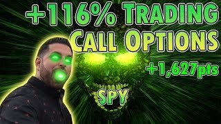 +116% Trading SPY Call Options as the Dow Rallies +1,627pts!