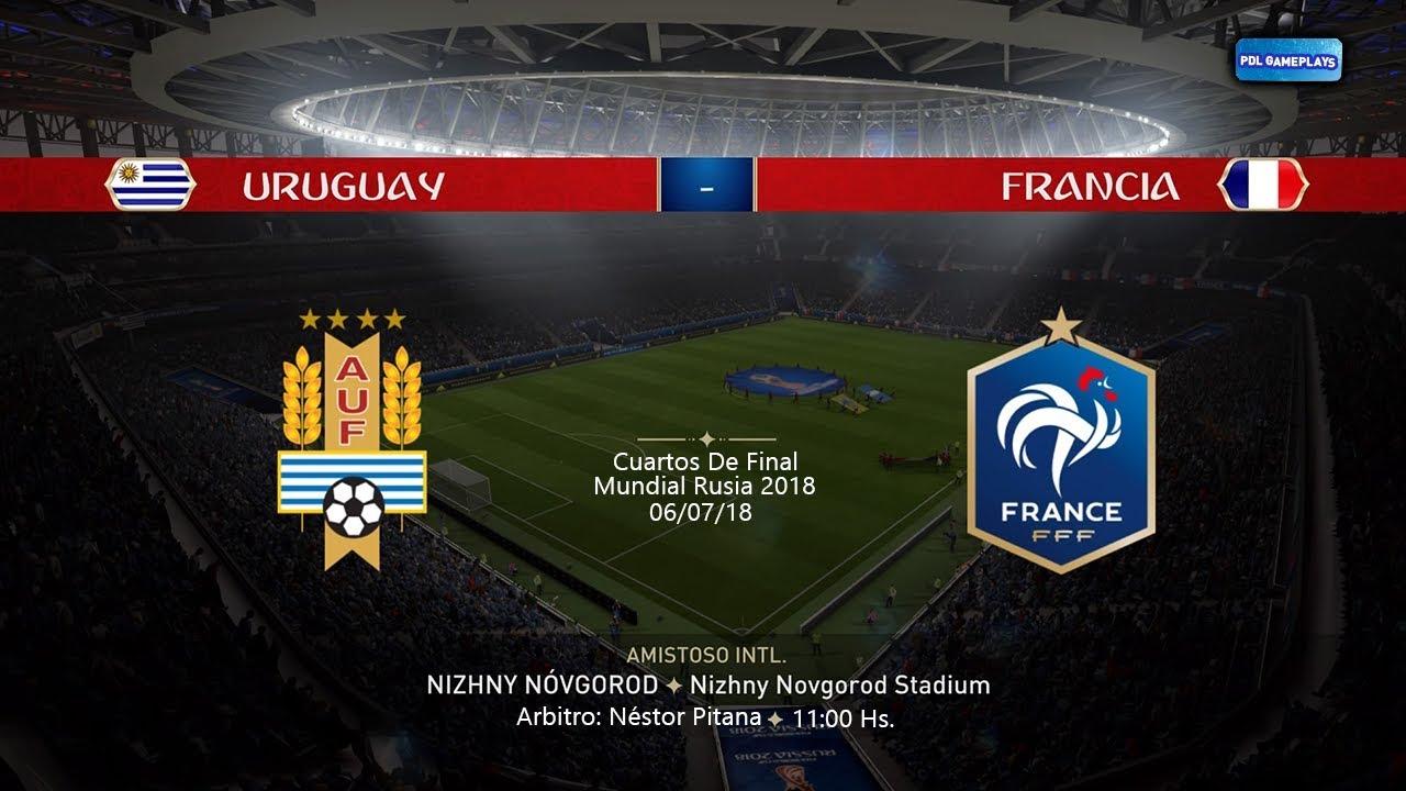 URUGUAY VS FRANCIA - Mundial Rusia 2018 Cuartos De Final ...