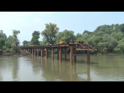 Radovi na mostu na Savi u Bariču