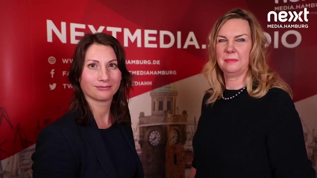 Christiane Brandes Visbeck (Ahoi Consulting) und Ines Gensinger (Microsoft) auf der SMWHH18