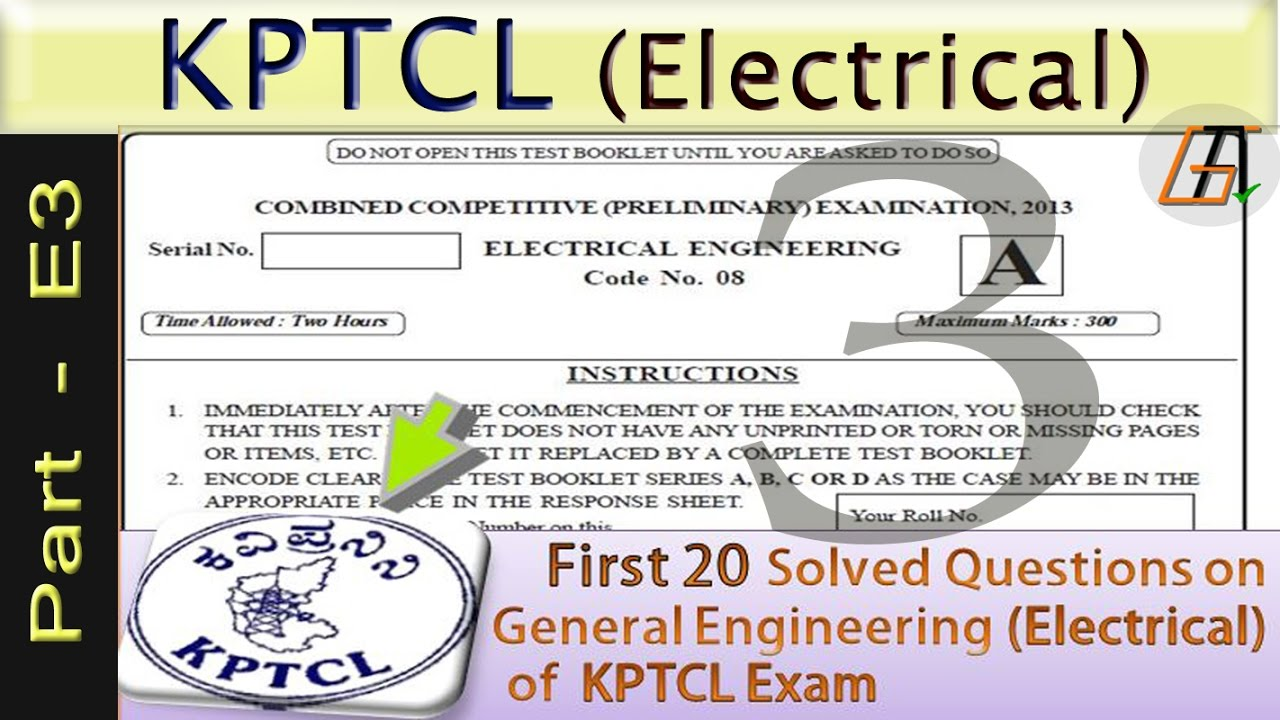 kptcl electrical question papers kptcl exam preparation youtube
