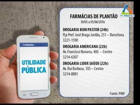 (JC 30/05/16) Farmácias de Plantão