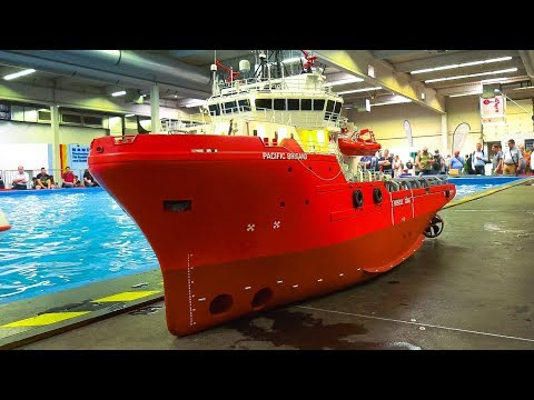 STUNNING RC MODEL SCALE OFFSHORE SPECIAL SHIPS BOATS IN DETA