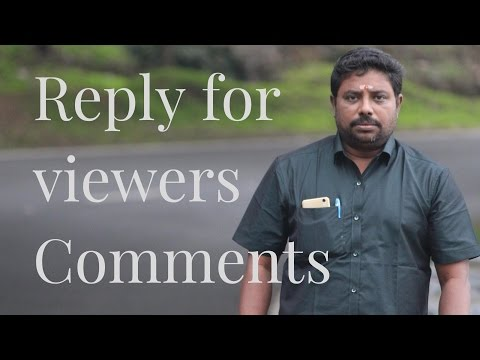 Reply for Viwers Comments #6 by DINDIGUL P CHINNARAJ ASTROLOGER INDIA