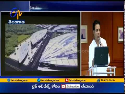Minister KTR Gives Presentation on Pharmaceutical City, Pharma City | TSIPASS