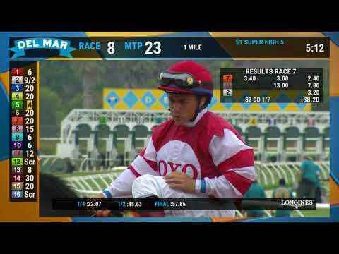 Brill Wins Race 7 at Del Mar 7/18/18