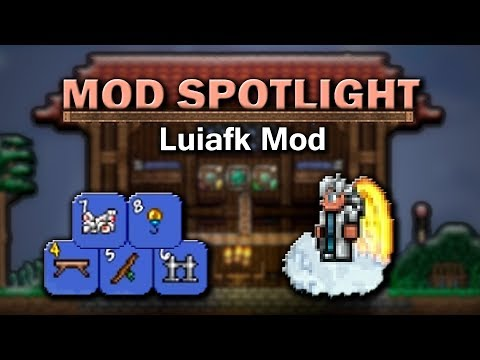 Terraria Mod Spotlight - Luiafk Mod (Unlimited Items, Combinable Potions, Autobuilding and more)