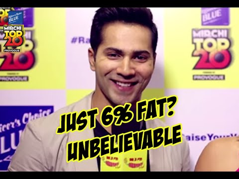Revealed - Varun Dhawan has 6% body fat | #MT20Jubilee | Radio Mirchi