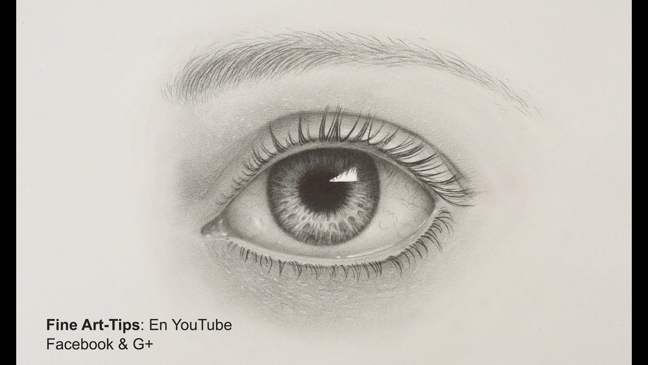 How to draw a realistic eye with pencil drawing tutorial