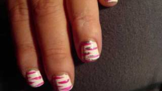 Hot Pink & whiteTiger Stripes Thumbnail