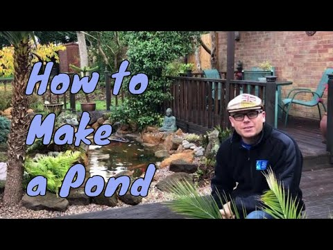How To Make A Pond - Garden Fish Pond Building, Garden Ponds