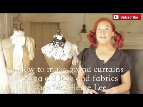 How to make Grand Curtains from Old Lace & Fabrics