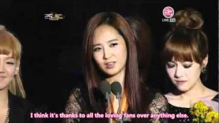 [Eng] 25th Golden Disk Awards - Disk Daesang - SNSD [12.09.10] - Stafaband
