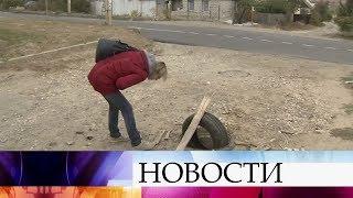 В Волгограде жители борются с похитителями канализационных люков.