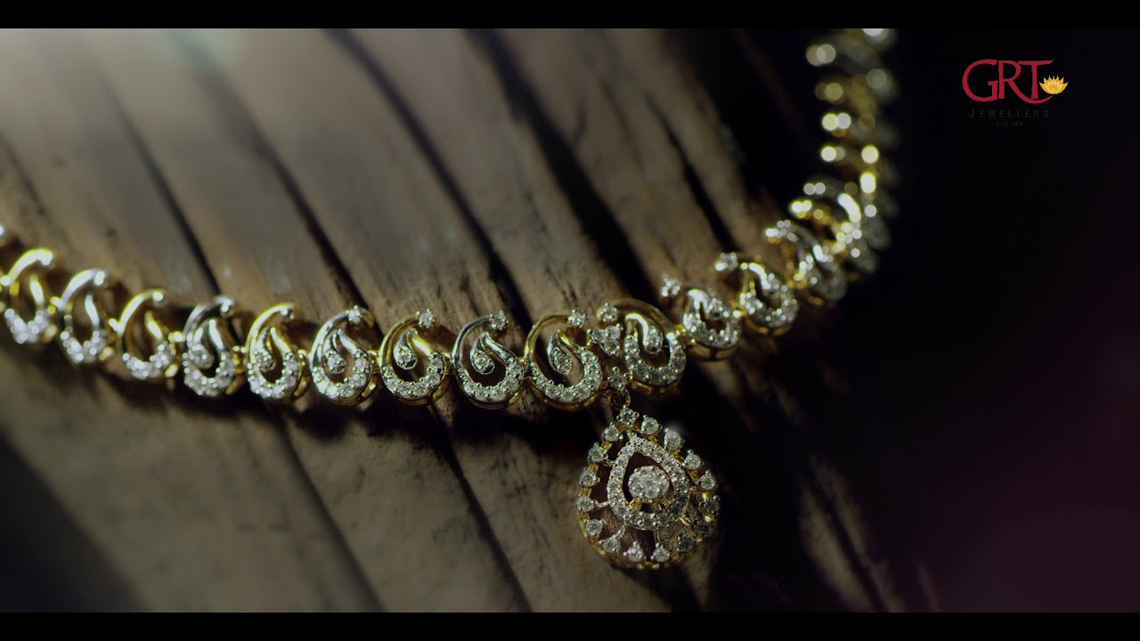 Grt Jewellers Presents The New Gorgeous Diamond Necklace Just Rs 99 900 Youtube