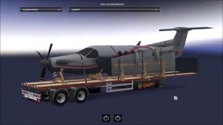 This mod adding Flatbed Trailers 20 cargo  Tested version 1.2 The trailer is standalone The trailer not in traffic Compatible with all trailer packs