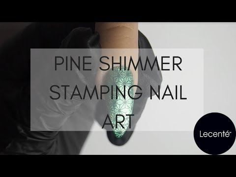 Pine Shimmer Foil Stamping Nail Art Tutorial | Lecenté thumbnail