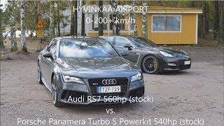 Audi Power - Audi RS7 560hp vs. Porsche Panamera Turbo S 540hp 😍👌