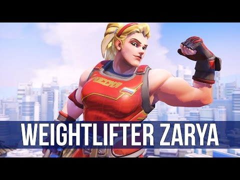 Overwatch: Weightlifter Zarya Gameplay! (Overwatch Quick Match)