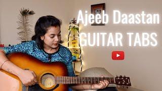 AJIB DASTAN HAI YE Lata Mangeshkar Easy Guitar Tabs | Dil apma aur preet parai | Hindi Guitar cover