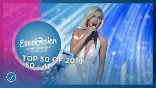 TOP 50: Most watched in 2018: 50 TO 41 - Eurovision Song Contest