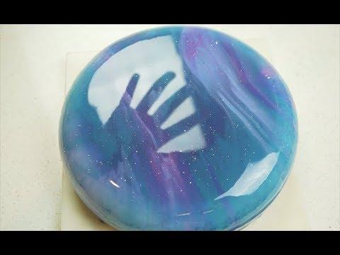 星空镜面蛋糕这样做 Galaxy Mirror glaze cake