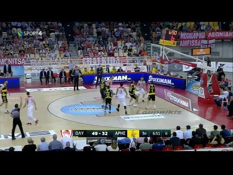 Ολυμπιακός - Άρης 79-65 (HL) Basket League Playoffs - Ημιτελικά 3ος αγ. (3-0) {25/5/2017}