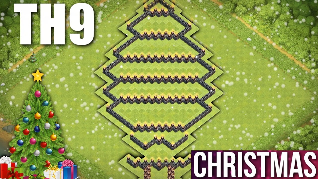 CLASH OF CLANS - TH9 CHRISTMAS TREE BASE 2016 🎄 TOWN HALL ...