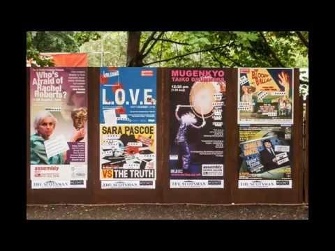Professional leaflet and poster distribution during the Fringe Festival Edinburgh