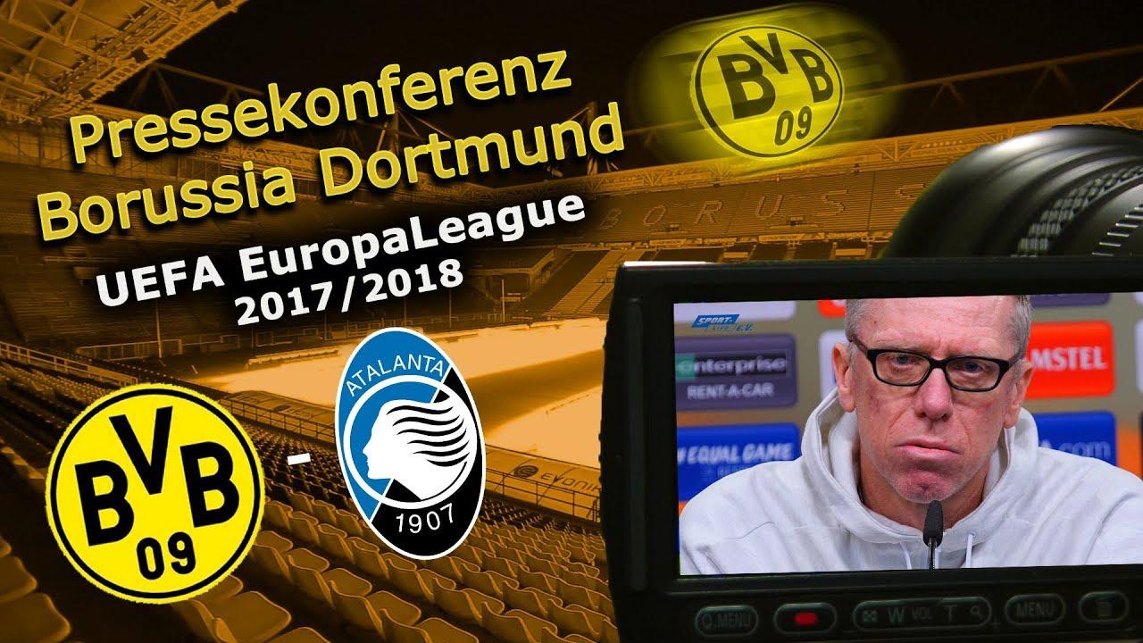 Borussia Dortmund - Atalanta Bergamo: Pk mit Peter Stöger