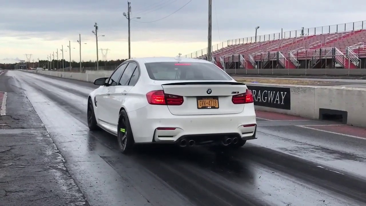 Stock turbo BMW F80 M3 (F82 M4) 1/4 mile record - 10.2@135 ...