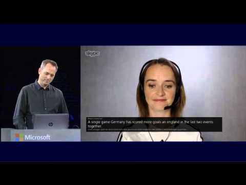 Skype Translator demo from WPC 2014