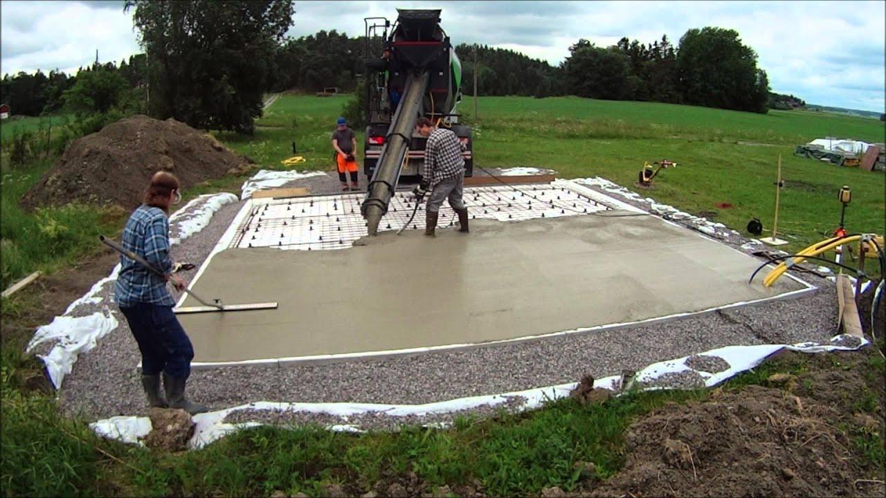 gjuta in avloppsrör i betong