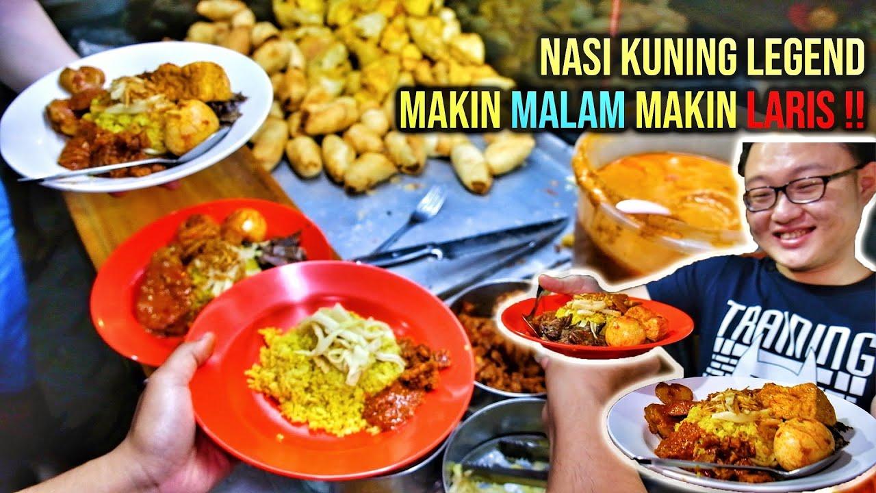 NASI KUNING LEGENDARIS, MAKIN MALAM MAKIN RAMAI!! #KulinerBandung