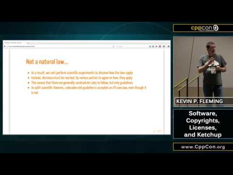 "CppCon 2015: Kevin P. Fleming ""A Crash Course in Open Source Licensing"""