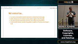 """CppCon 2015: Kevin P. Fleming """"A Crash Course in Open Source Licensing"""""""