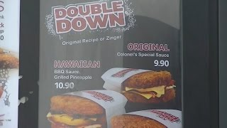 Kfc Double Down In New Zealand