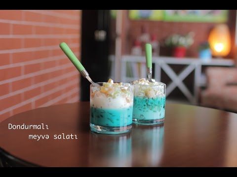 MEYVƏLİ DONDURMA SALATI/ Фруктовый салат с мороженым