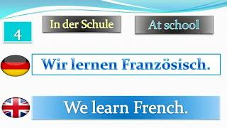 learn german english subtitles: In der Schule
