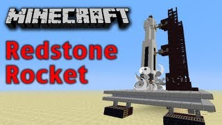 Minecraft Redstone Space Rocket Thumbnail