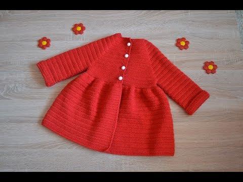 Пальто для девочки крючком схема
