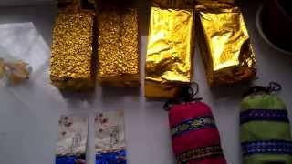 посылки из Китая Aliexpress чай молочный улун и пуэр