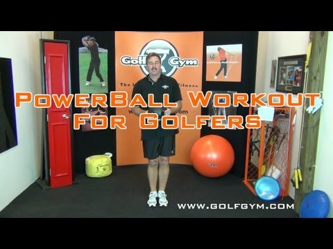 Golf Fitness: Golf Exercises And Workout With 8 Pound Power Ball