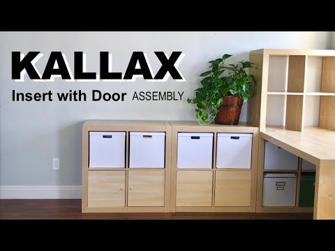 How to Assemble the IKEA Kallax Insert with Door