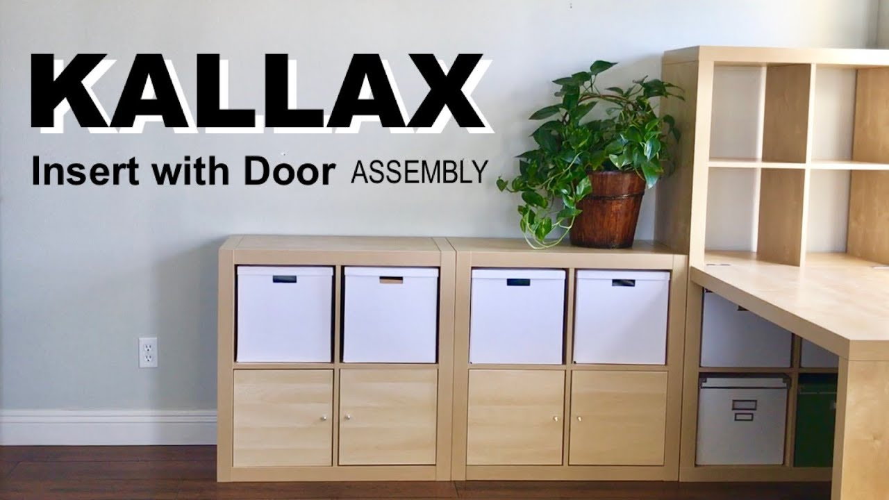 how to assemble the ikea kallax insert with door - youtube