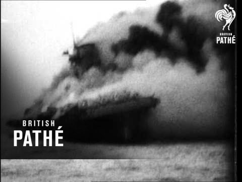 Sinking Of Us Aircraft Carrier Lexington (1942)