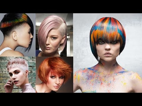 Best 12 Short Hair Color Trends For 2018 Round Long Oval Faces Youtube